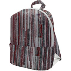 Abstract Grunge Stripes Red White Green Zip Up Backpack by SpinnyChairDesigns