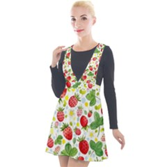 Huayi-vinyl-backdrops-for-photography-strawberry-wall-decoration-photo-backdrop-background-baby-show Plunge Pinafore Velour Dress