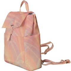 Coral Cream Abstract Art Pattern Buckle Everyday Backpack
