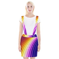 Sporty Stripes Swoosh Purple Gold Red Braces Suspender Skirt by SpinnyChairDesigns