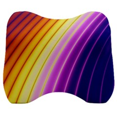 Sporty Stripes Swoosh Purple Gold Red Velour Head Support Cushion