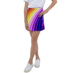 Sporty Stripes Swoosh Purple Gold Red Kids  Tennis Skirt