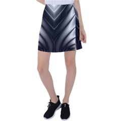 Black And Silver Pattern Tennis Skirt