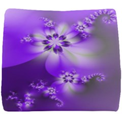 Violet Purple Flower Print Seat Cushion
