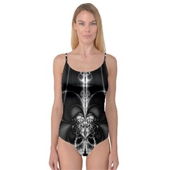 Abstract Black And White Art Camisole Leotard
