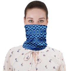 Abstract Blue Circles Mosaic Face Covering Bandana (adult)