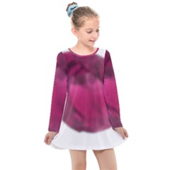 Fun Fuschia Kids  Long Sleeve Dress