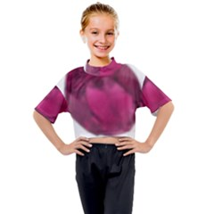 Fun Fuschia Kids Mock Neck Tee