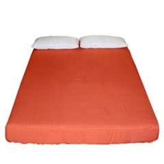 Appreciating Apricot Fitted Sheet (king Size)