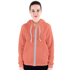 Appreciating Apricot Women s Zipper Hoodie