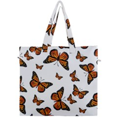 Monarch Butterflies Canvas Travel Bag