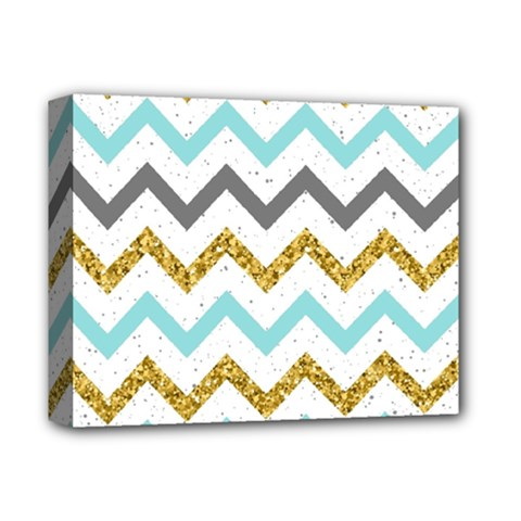Chevron  Deluxe Canvas 14  X 11  (stretched) by Sobalvarro