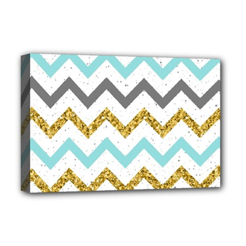 Chevron  Deluxe Canvas 18  X 12  (stretched) by Sobalvarro