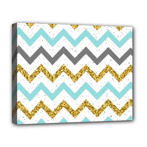 Chevron  Deluxe Canvas 20  X 16  (stretched) by Sobalvarro