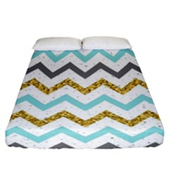 Chevron  Fitted Sheet (california King Size) by Sobalvarro