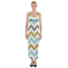 Chevron  Fitted Maxi Dress by Sobalvarro
