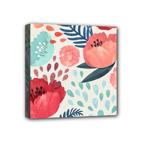 Floral  Mini Canvas 4  X 4  (stretched) by Sobalvarro