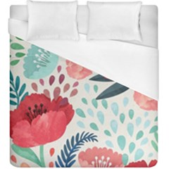 Floral  Duvet Cover (king Size) by Sobalvarro