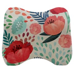 Floral  Velour Head Support Cushion by Sobalvarro