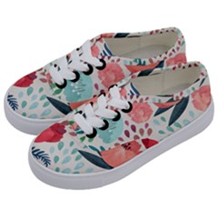 Floral  Kids  Classic Low Top Sneakers by Sobalvarro
