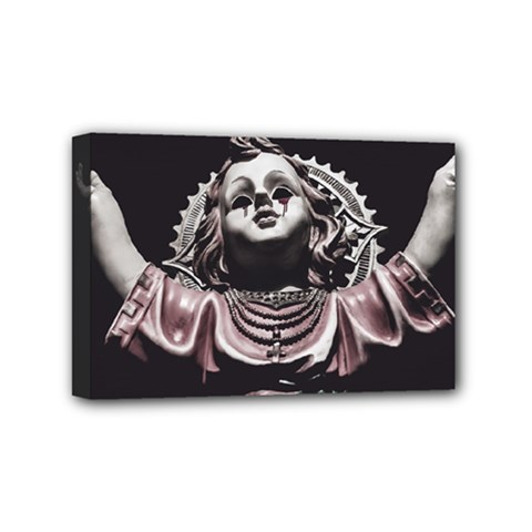 Angel Crying Blood Dark Style Poster Mini Canvas 6  X 4  (stretched)