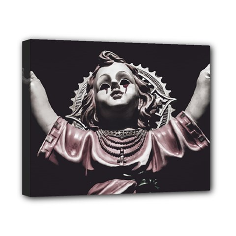 Angel Crying Blood Dark Style Poster Canvas 10  X 8  (stretched)