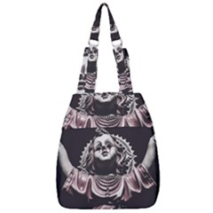Angel Crying Blood Dark Style Poster Center Zip Backpack