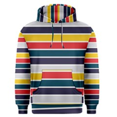 Horizontal Colored Stripes Men s Core Hoodie