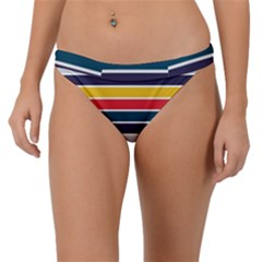 Horizontal Colored Stripes Band Bikini Bottom by tmsartbazaar