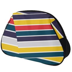 Horizontal Colored Stripes Full Print Accessory Pouch (big)