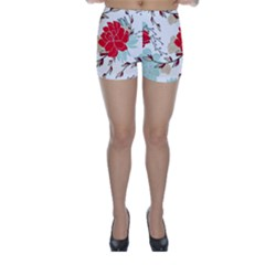 Floral Pattern  Skinny Shorts by Sobalvarro