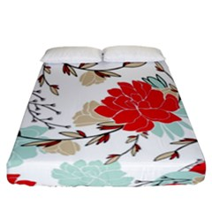 Floral Pattern  Fitted Sheet (california King Size) by Sobalvarro