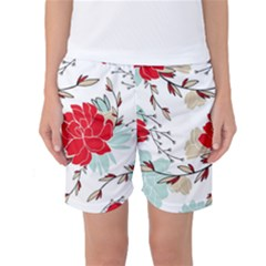 Floral Pattern  Women s Basketball Shorts by Sobalvarro