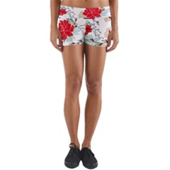 Floral Pattern  Yoga Shorts by Sobalvarro