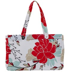 Floral Pattern  Canvas Work Bag by Sobalvarro
