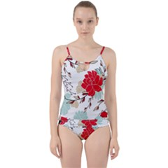 Floral Pattern  Cut Out Top Tankini Set by Sobalvarro