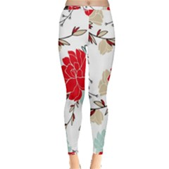 Floral Pattern  Inside Out Leggings by Sobalvarro