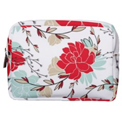 Floral Pattern  Make Up Pouch (medium) by Sobalvarro