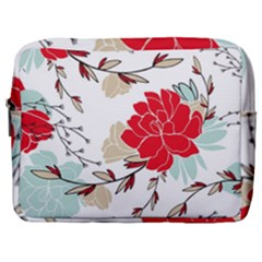 Floral Pattern  Make Up Pouch (large) by Sobalvarro