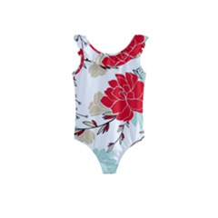 Floral Pattern  Kids  Frill Swimsuit by Sobalvarro