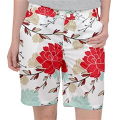 Floral Pattern  Pocket Shorts by Sobalvarro