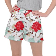 Floral Pattern  Ripstop Shorts by Sobalvarro