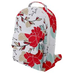 Floral Pattern  Flap Pocket Backpack (small) by Sobalvarro