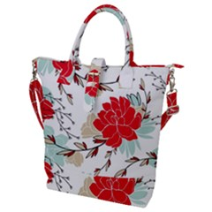Floral Pattern  Buckle Top Tote Bag by Sobalvarro