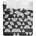 Black and White Triangles Pattern Duvet Cover Double Side (California King Size) View1