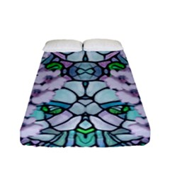 Paradise Flowers In Paradise Colors Fitted Sheet (full/ Double Size)