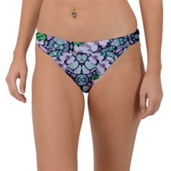 Paradise Flowers In Paradise Colors Band Bikini Bottom by pepitasart