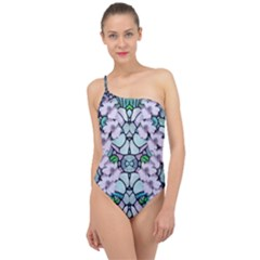 Paradise Flowers In Paradise Colors Classic One Shoulder Swimsuit