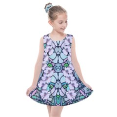 Paradise Flowers In Paradise Colors Kids  Summer Dress