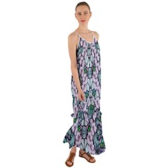 Paradise Flowers In Paradise Colors Cami Maxi Ruffle Chiffon Dress